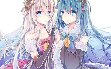 anime, girls, vocaloid, horns, hatsune miku, mangaka