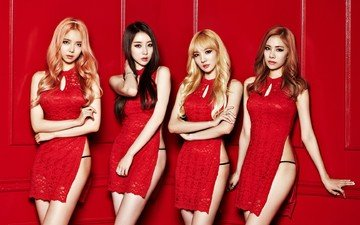 beauty, red, supermodel, women, singing, musical theatre, asian, singer, model, k pop, stellar, hyoeun, gayoung, jeonyul, minhee, photo shoot