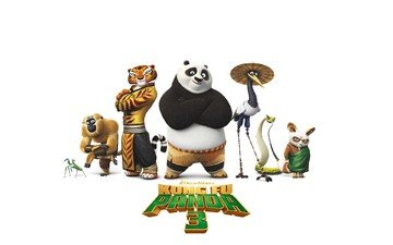 panda, cartoon, poster, kung fu panda
