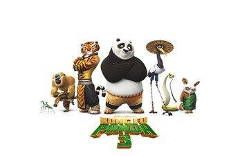 панда, мультфильм, плакат, кун-фу панда