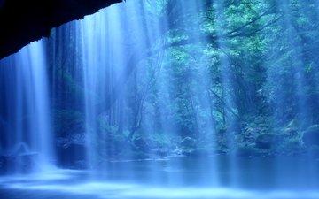 nature, waterfall, japan, kumamoto, nabegataki falls, kumamoto prefecture