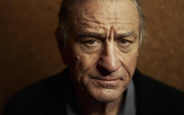 portrait, look, actor, face, robert de niro