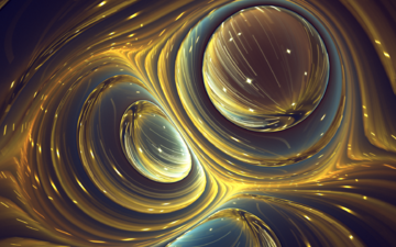 abstraction, background, color, circles, fractal