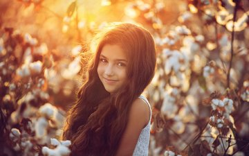 mood, smile, girl, child, long hair, afeef