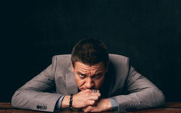 look, actor, face, male, photoshoot, jacket, jeremy renner