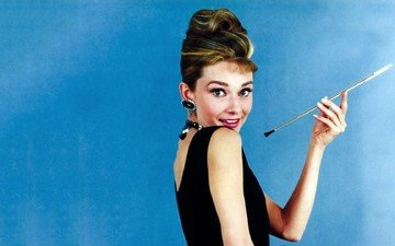 hand, girl, model, hair, actress, hairstyle, photoshoot, audrey hepburn, breakfast at tiffany's, holly golightly