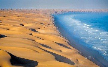landscape, sea, sand, desert, bing