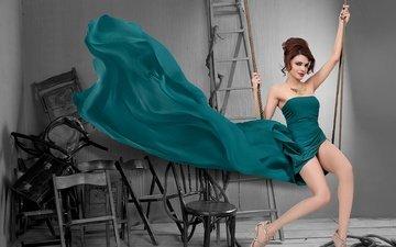 девушка, платье, поза, улыбка, модель, волосы, актриса, фигура, шерлин чопра