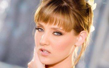 девушка, блондинка, портрет, взгляд, модель, волосы, лицо, голубые глаза, carli banks