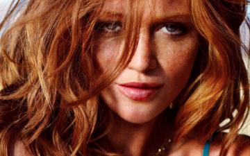 девушка, портрет, взгляд, модель, губы, лицо, веснушки, рыжеволосая, синтия дикер