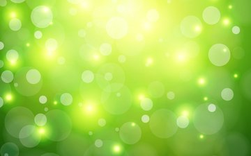 green, background, vector, glare, spot, bokeh