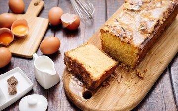 яйца, молоко, сладкое, выпечка, десерт, кекс