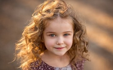 smile, look, children, hair, child, girl, ekaterina shtern