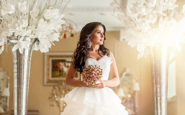 букет, невеста, декор