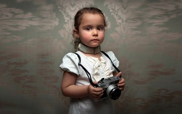 портрет, взгляд, лицо, ребенок, камера, размытие, gевочка, bill gekas