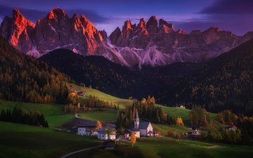 mountains, autumn, home, italy, valley, alps