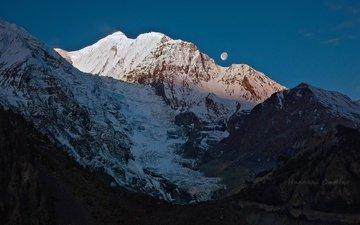горы, ледник, гималаи, непал, гангапурна, николай стюбко