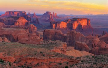 rocks, stones, sunset, panorama, canyon, usa, az, the grand canyon, grand canyon national park