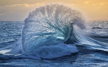 море, волна, океан, всплеск