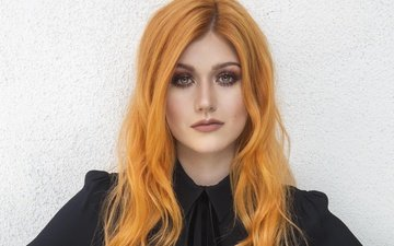 girl, look, red, hair, face, actress, katherine mcnamara