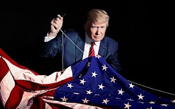 flag, usa, policy, president, donald trump