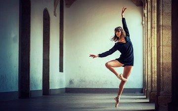девушка, поза, танец, ножки, балет, балерина