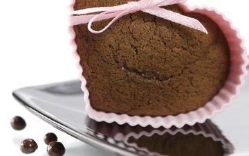 heart, chocolate, cupcake