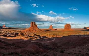 the sky, clouds, rocks, canyon, az, monument valley, rbezze
