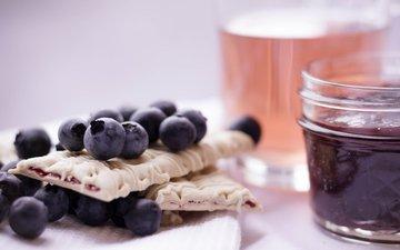 berries, blueberries, sweet, cookies, dessert, jam, irena