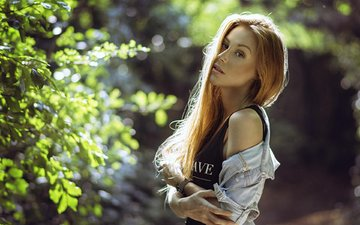 forest, girl, look, model, face, long hair, katy sendza