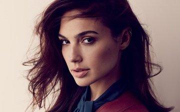 girl, background, portrait, look, hair, face, actress, makeup, gal gadot, david roemer