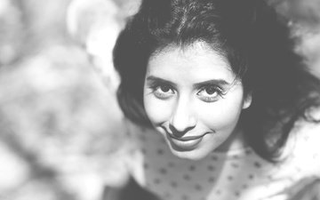 eyes, girl, smile, black and white, model, lips, face, actress, celebrity, bollywood, charu asopa, charu, asopo