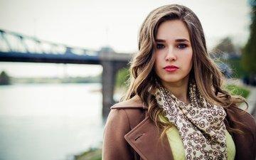 girl, mood, portrait, the city, look, street, model