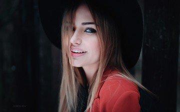 глаза, девушка, блондинка, улыбка, портрет, модель, лицо, длинные волосы, мэри джейн, иван горохов