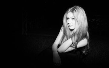 girl, look, black and white, model, face, actress, katherine mcnamara