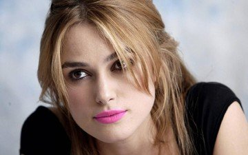 girl, portrait, look, lips, actress, keira knightley
