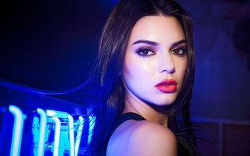 girl, portrait, look, model, lips, makeup, kendall jenner