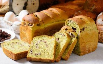 bread, eggs, cakes
