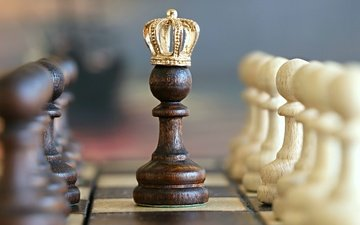 chess, blur, figure, the game, crown, pawn