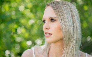 девушка, фон, блондинка, портрет, взгляд, модель, волосы, губы, лицо, natascha