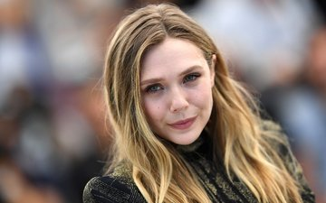 girl, blonde, look, face, actress, elizabeth olsen