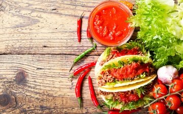 vegetables, meat, tomatoes, chile, pepper, garlic, pellet, adjika, tortilla
