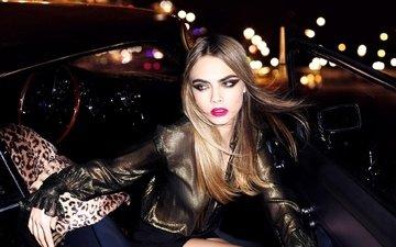 pose, look, model, actress, makeup, cara delevingne