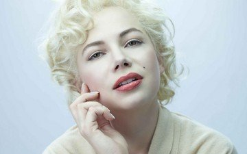 girl, blonde, look, model, face, actress, marilyn monroe, michelle williams