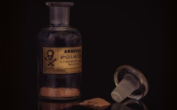 glass, bank, bottle, poison, arsenic
