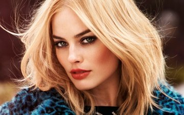 girl, blonde, look, hair, face, actress, makeup, margot robbie
