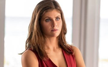 girl, look, hair, face, actress, alexandra daddario