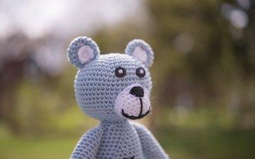 медведь, мишка, игрушка, вязание
