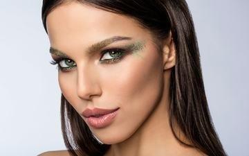 фон, портрет, брюнетка, взгляд, модель, лицо, макияж, slinky-aleksandr lishchinskiy