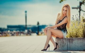 the sky, girl, mood, summer, the city, model, posing, glamour, özgür-media, cindy lüchau